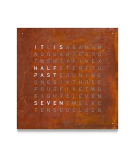 Classic Edition Rust Clock