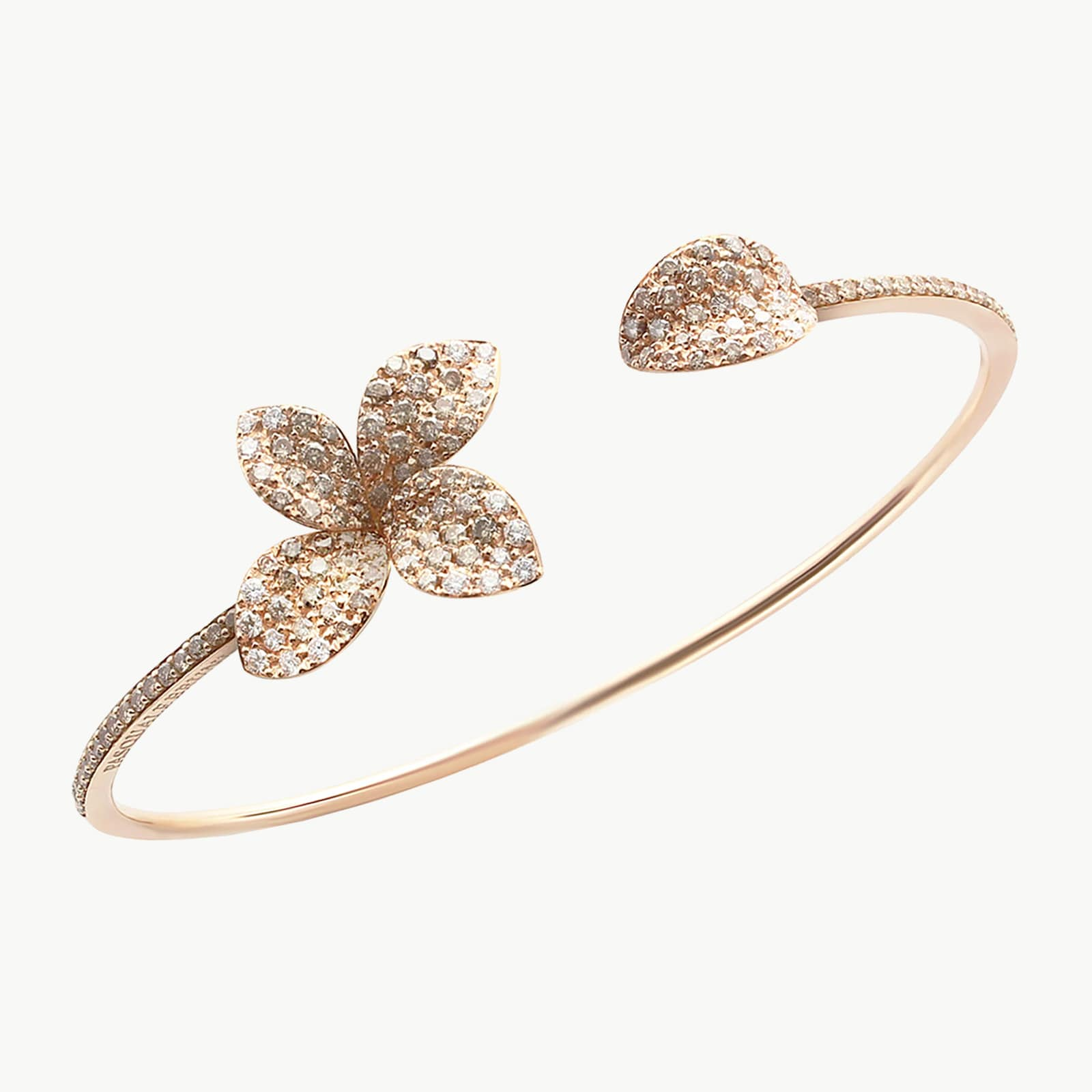 Petit Garden Bracelet With White And Champagne Diamonds