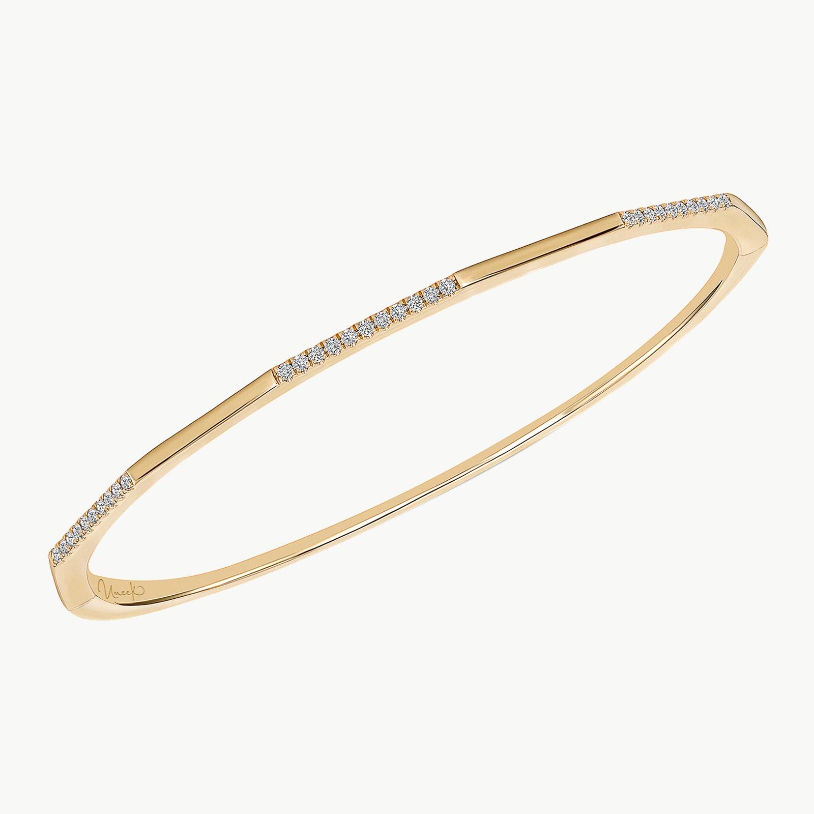 14k Yellow Gold 0.23cttw Diamond Stackable Bangle