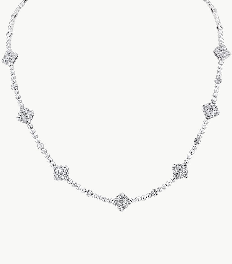 18K White Gold 2.81ct Diamond Necklace