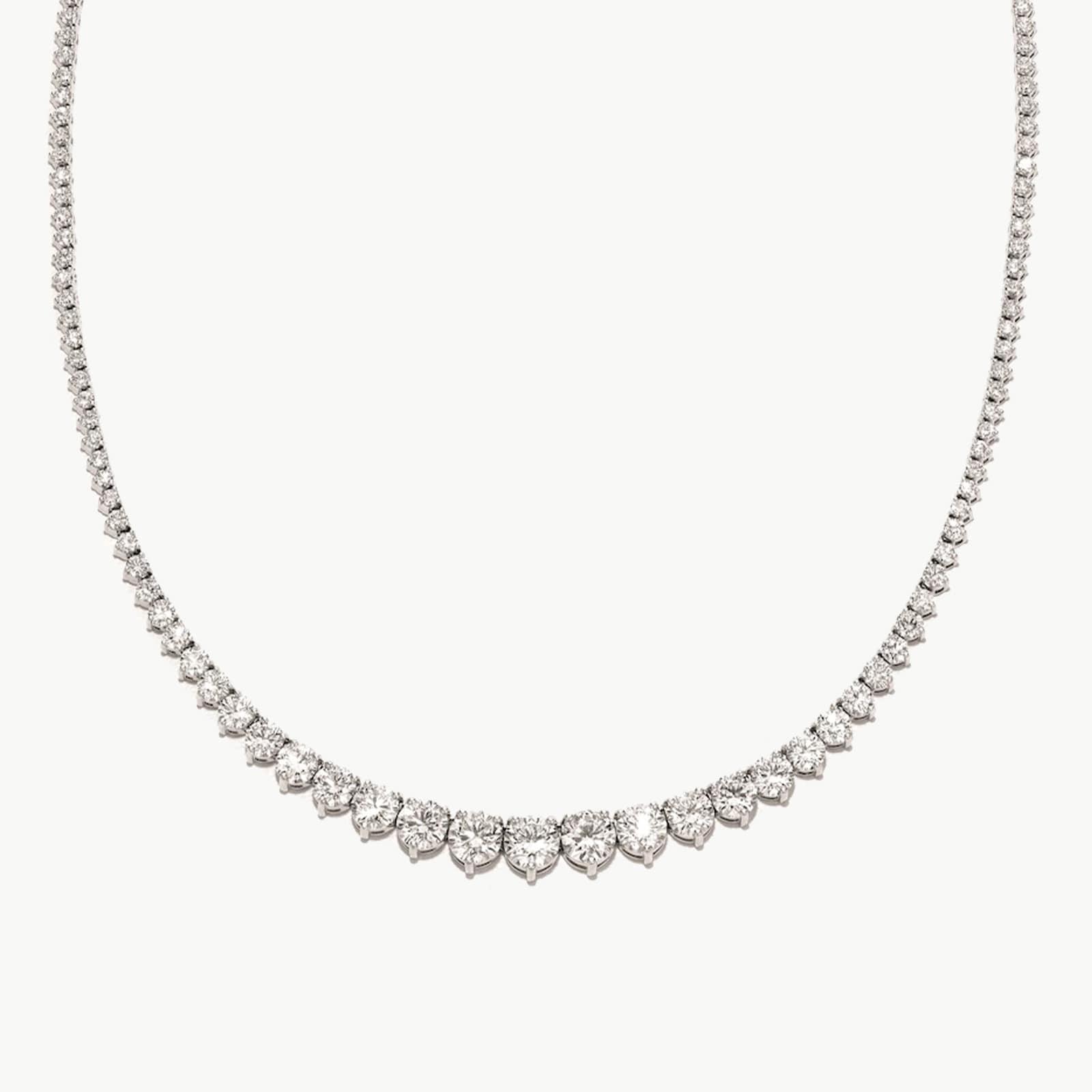 18k White Gold 12.20cttw Diamond Necklace