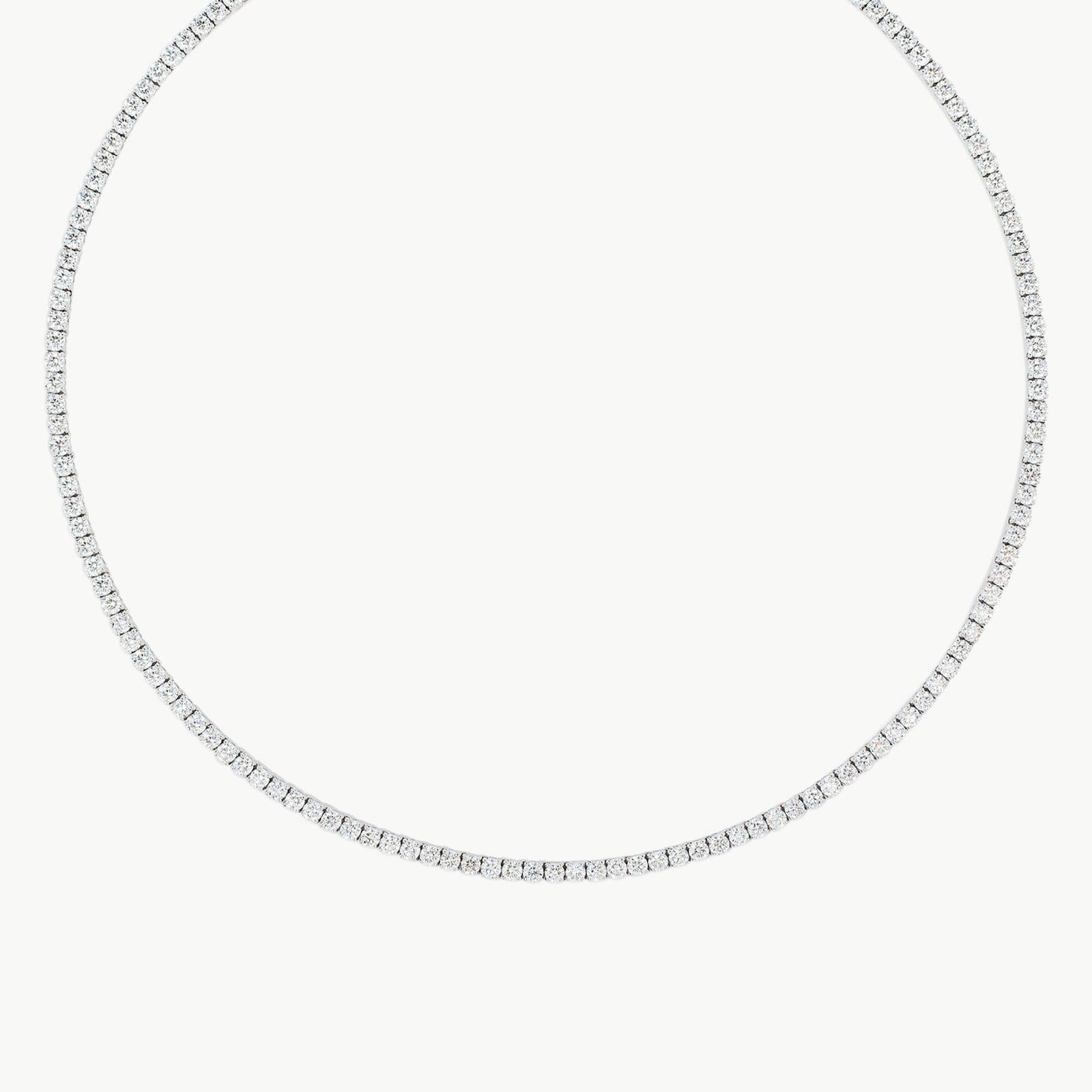 18k White Gold 11.70cttw Diamond Necklace