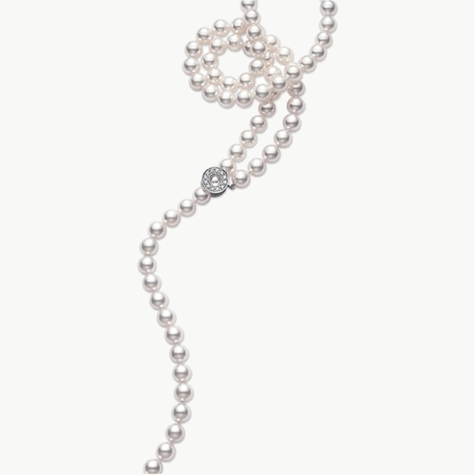 Pearl and Diamond 22inch Necklace