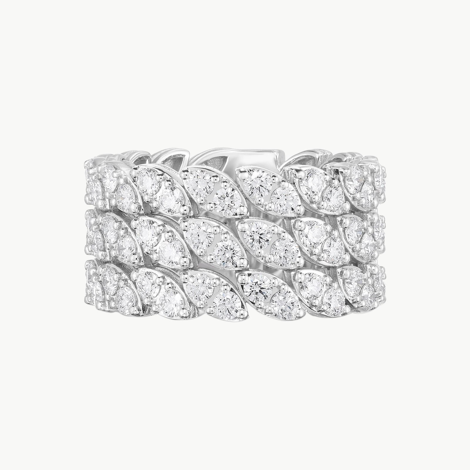 The Marquesa Collection 18k White Gold 2.97CTW Diamond Ring