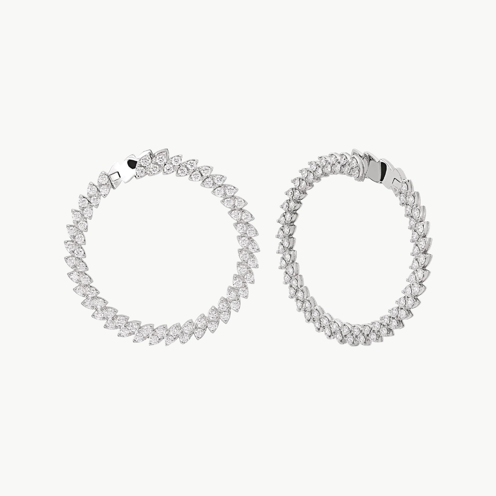 The Marquesa Collection 18k White Gold 4.24cttw Diamond Earrings