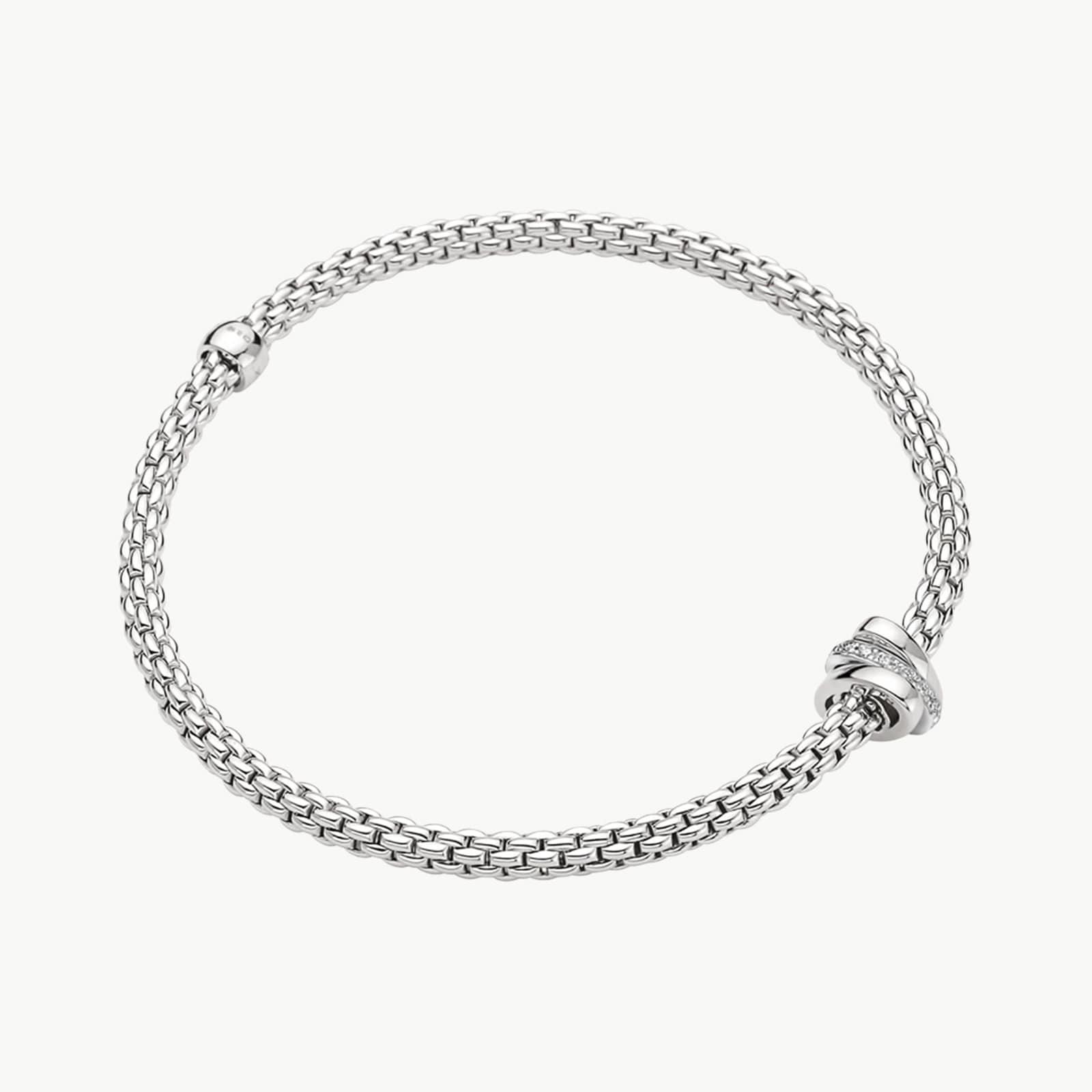 18KW 0.10cttw Diamond Prima Bracelet