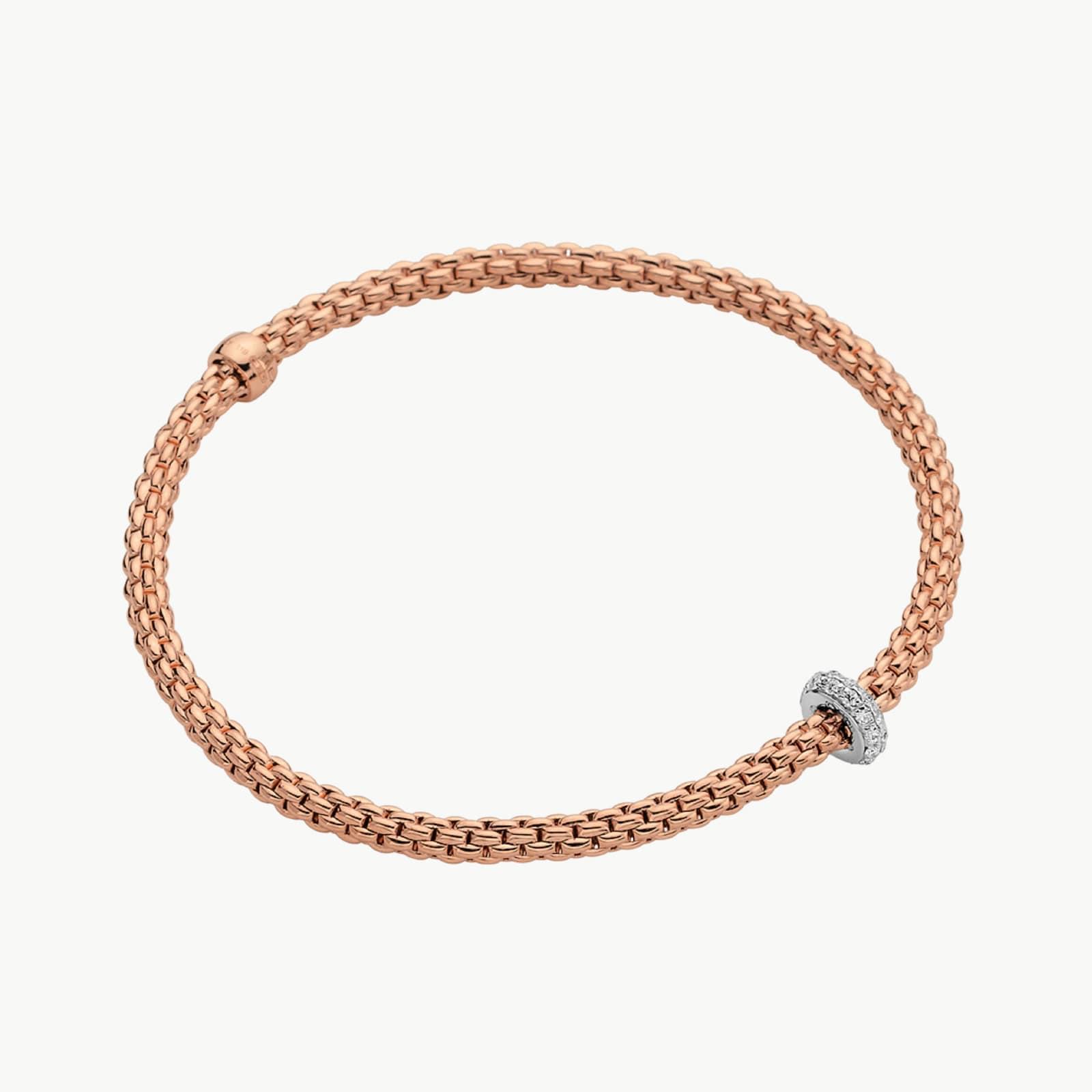 18k Rose Gold 0.18cttw Diamond Prima Bracelet