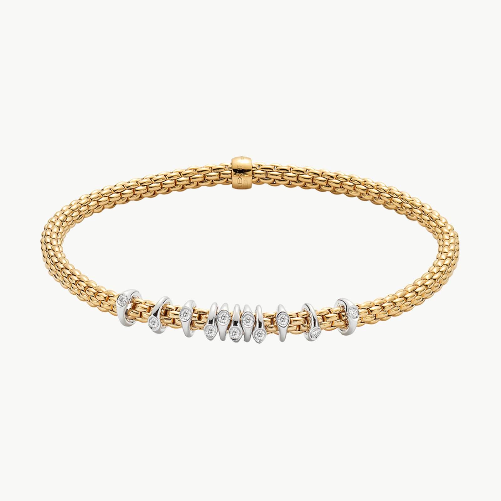 18k Yellow Gold 0.07cttw Diamond Prima Bracelet