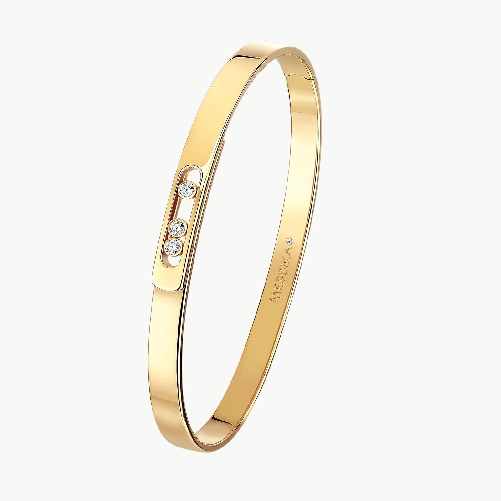 18k Yellow Gold Diamond Move Noa Bangle