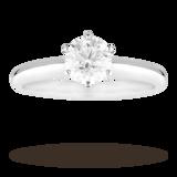 Mappin & Webb Brilliant Cut 1.00 Carat Diamond Solitaire Ring In Platinum