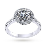 Mappin & Webb Amelia Platinum 0.90cttw Diamond Engagement Ring - Ring Size I