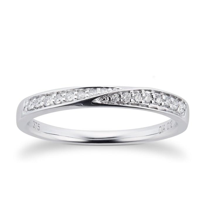 Goldsmiths 9ct White Gold Multistone Diamond Bridal Set