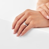 Goldsmiths Platinum Princess Cut 1.00 Carat 88 Facet Diamond Ring
