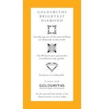 Goldsmiths 18ct White Gold Princess Cut 0.65 Carat 88 Facet Diamond Ring