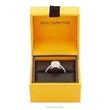 Goldsmiths 18ct White Gold Princess Cut 0.40 Carat 88 Facet Diamond Ring