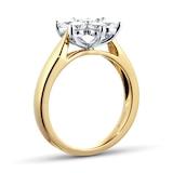 Goldsmiths 18ct Yellow Gold 1.01ct Goldsmiths Brightest Diamond Cluster Ring - Ring Size M