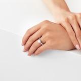Goldsmiths Platinum Brilliant Cut 1.00 Carat 88 Facet Diamond Ring