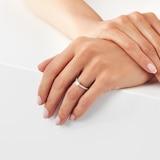Goldsmiths 18ct White Gold Brilliant Cut 0.45 Carat 88 Facet Diamond Ring
