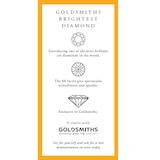 Goldsmiths 18ct White Gold 0.51 Carat Three Stone Goldsmiths Brightest Diamond Ring