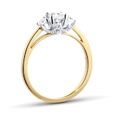 Goldsmiths 18ct Yellow Gold 0.50cttw Goldsmiths Brightest Diamond Three Stone Engagement Ring