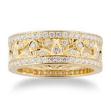 Mappin & Webb Empress 18ct Yellow Gold 0.95cttw Diamond Band Ring