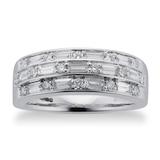 Mappin & Webb Renee 18ct White Gold 0.77cttw Three Row Diamond Ring