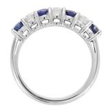 Mappin & Webb Platinum Diamond And Sapphire Half Eternity Ring