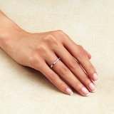 Goldsmiths 9ct White Gold Baguette Cut Ruby & Diamond Eternity Ring