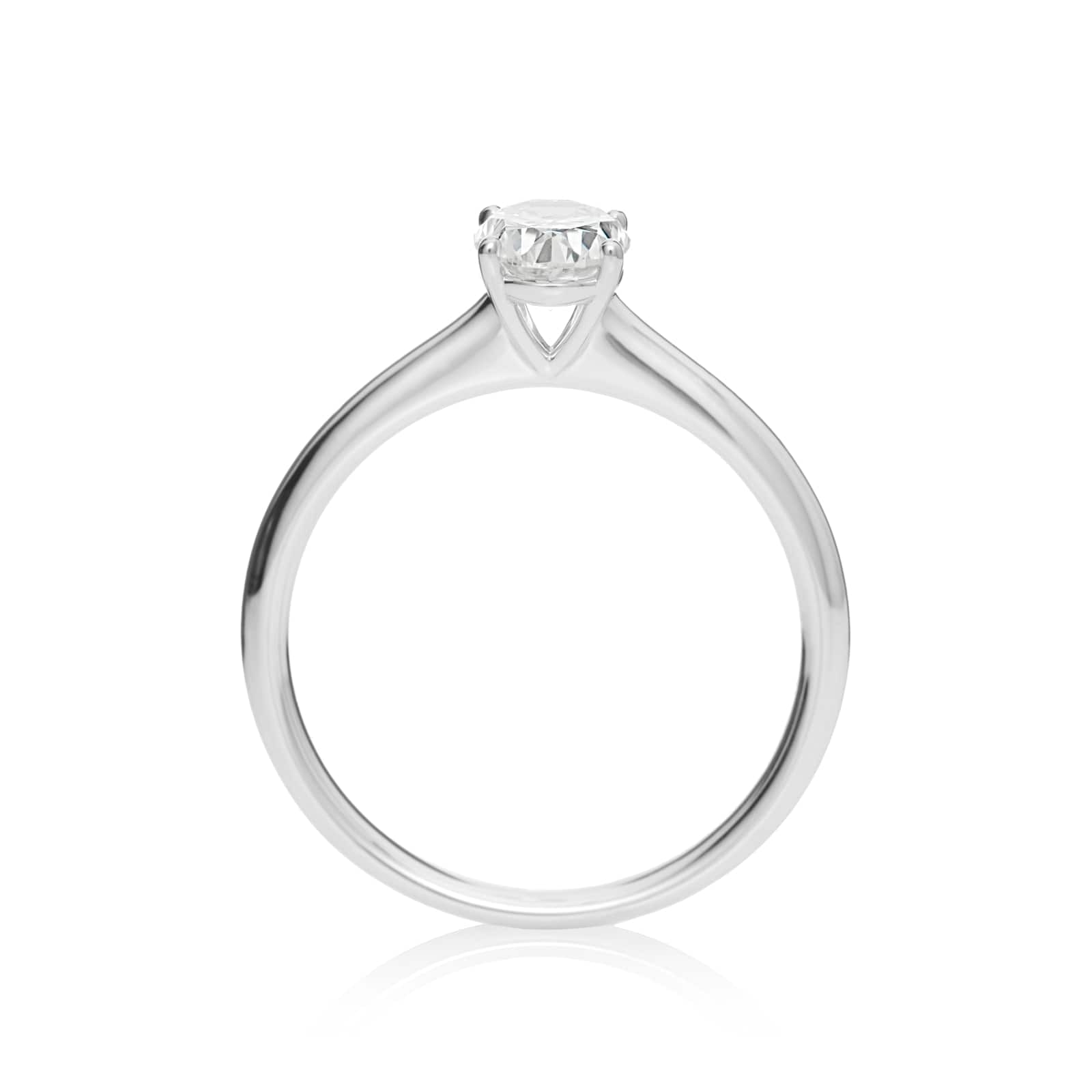 Mayors Platinum 1.00ct Oval Engagement Ring (H/SI1)