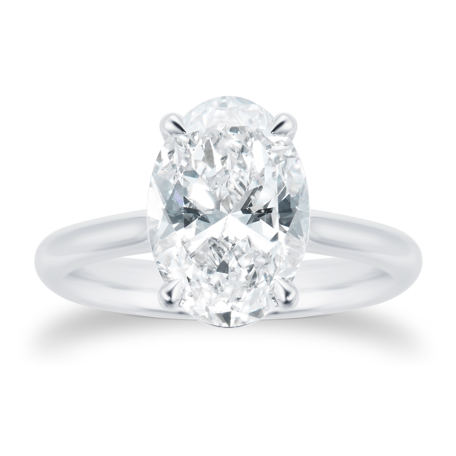Mayors Platinum 2.50cttw Oval Engagement Ring (H/SI1)