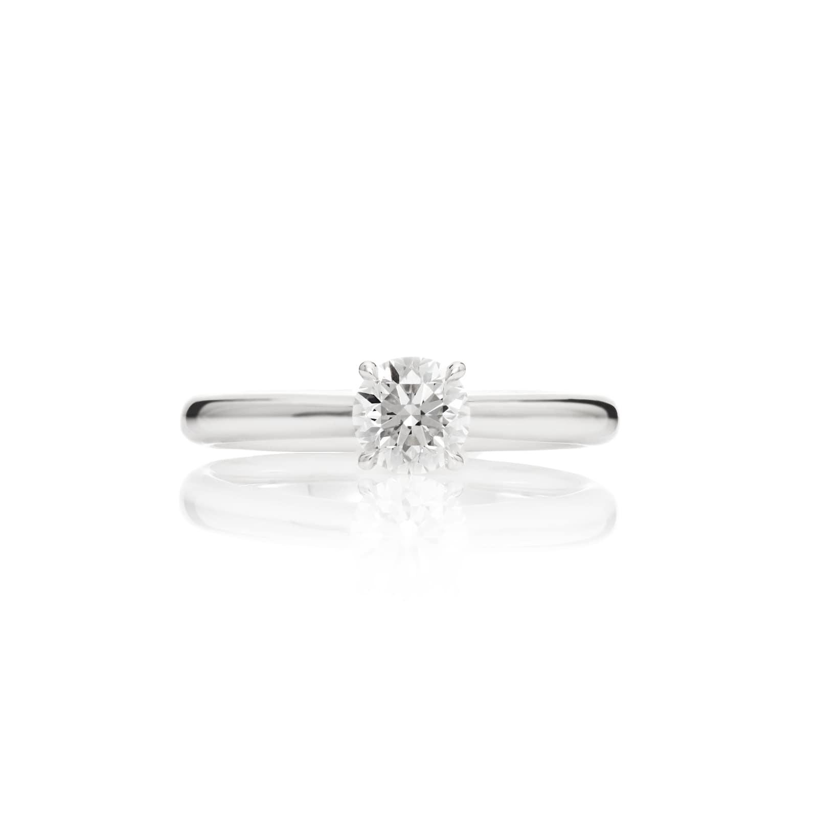 Mayors Platinum 0.50ct Round Engagement Ring (H/SI1)