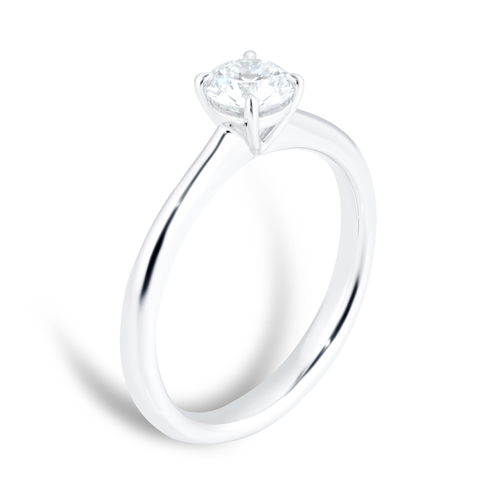 Mayors Platinum 0.70ct Round Engagement Ring (H/SI1)