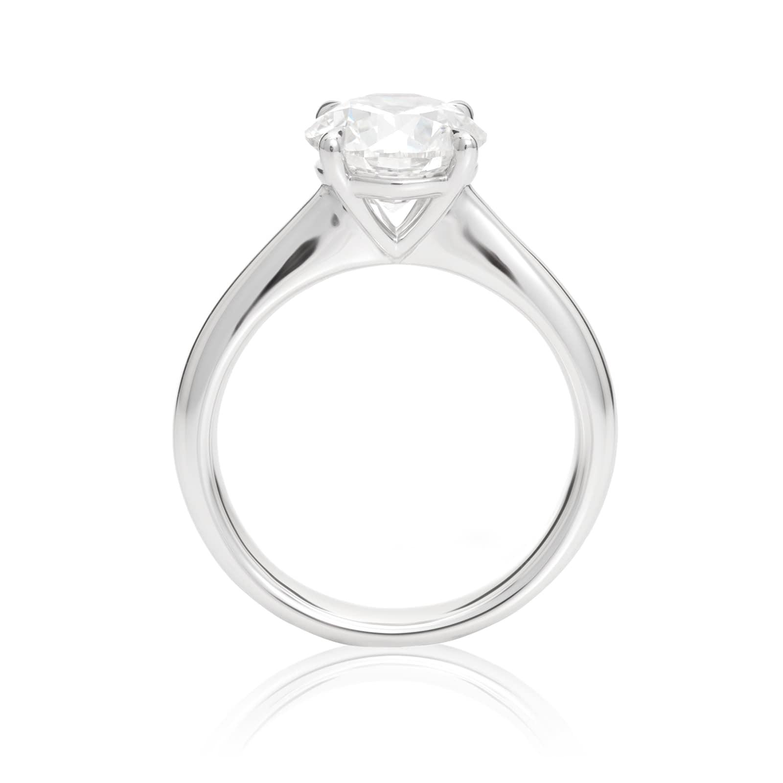 Mayors Platinum 2.50ct Round Engagement Ring (H/SI1)