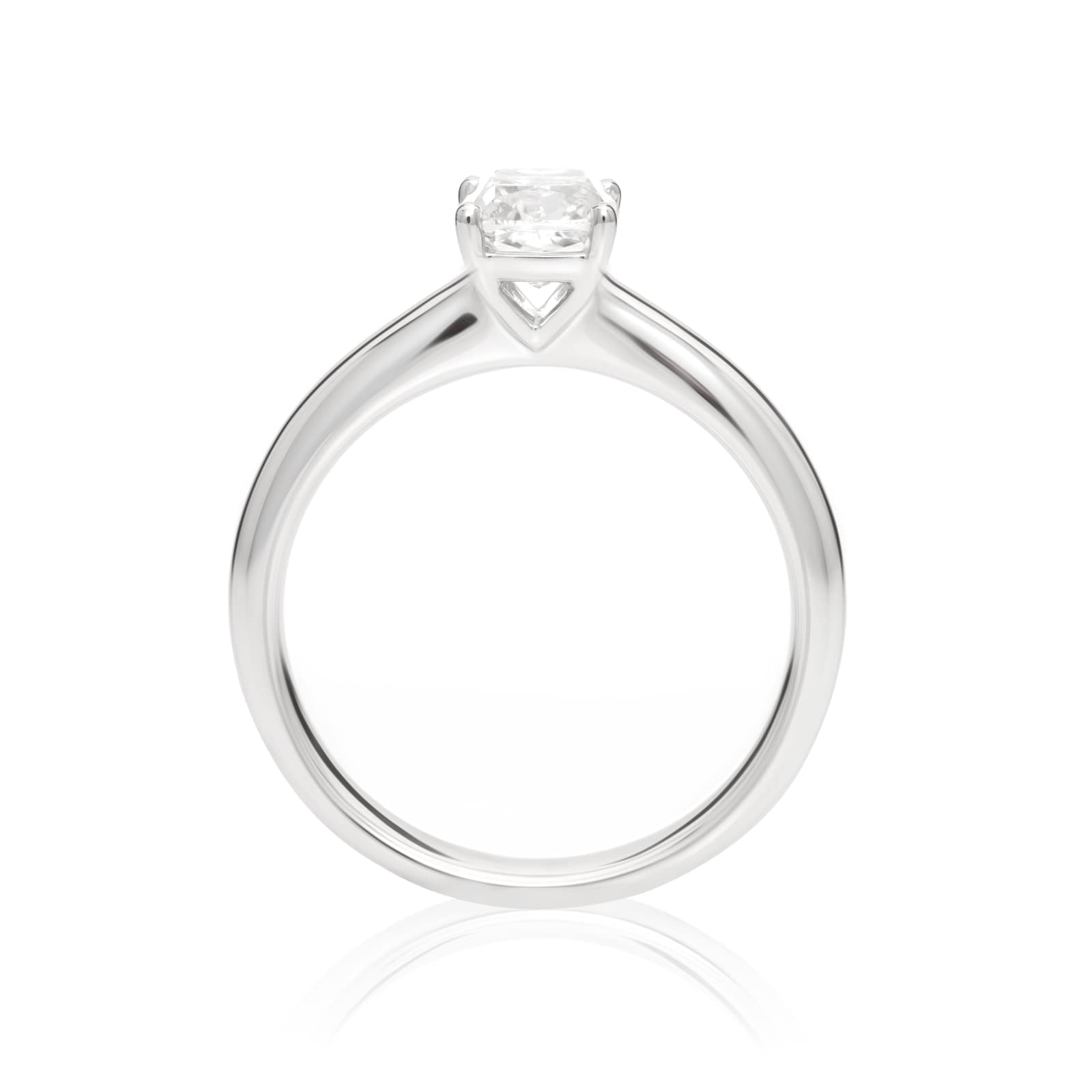 Mayors Platinum 0.70ct Cushion Engagement Ring (H/SI1)