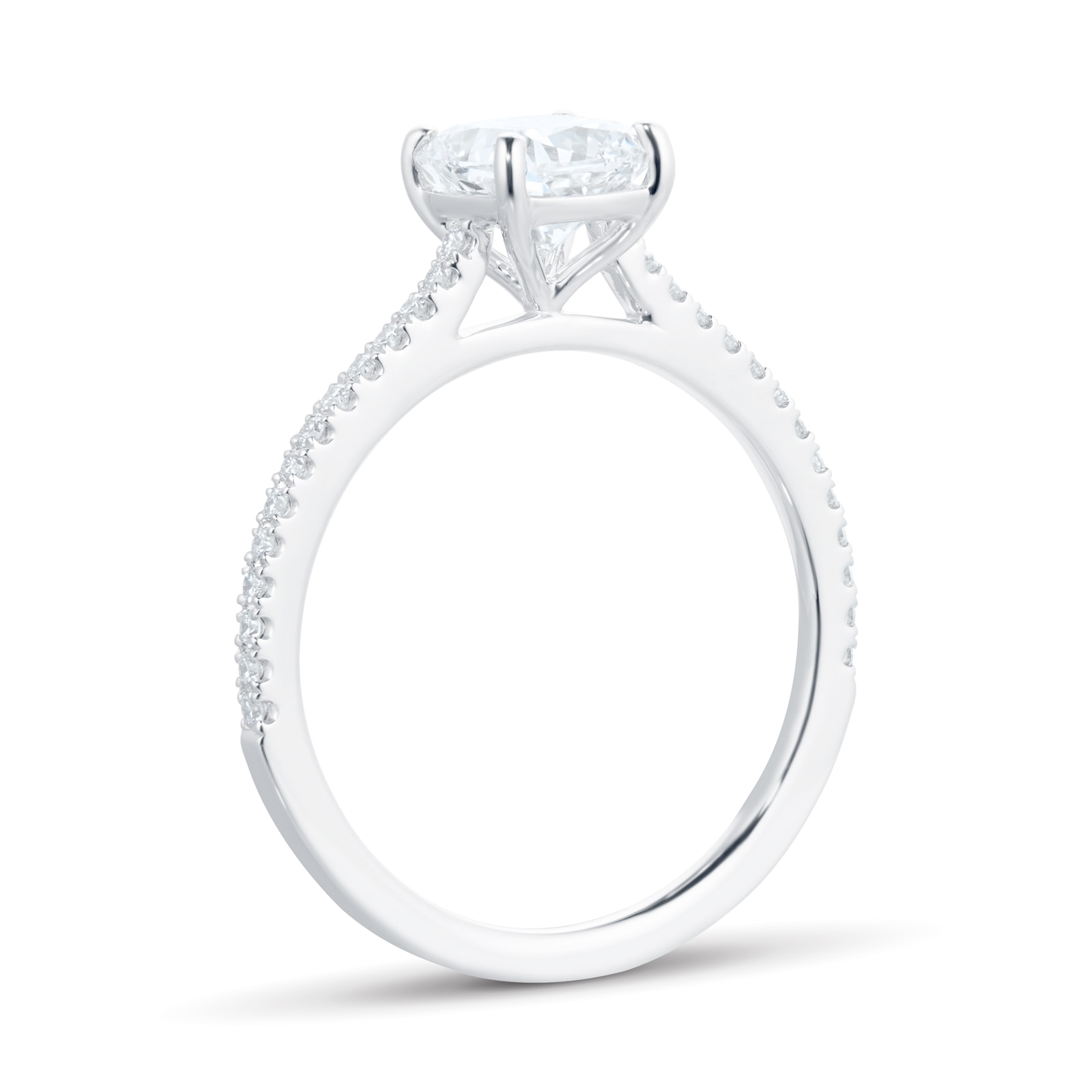 Mayors Platinum 1.35ct Cushion Engagement Ring (H/SI1)