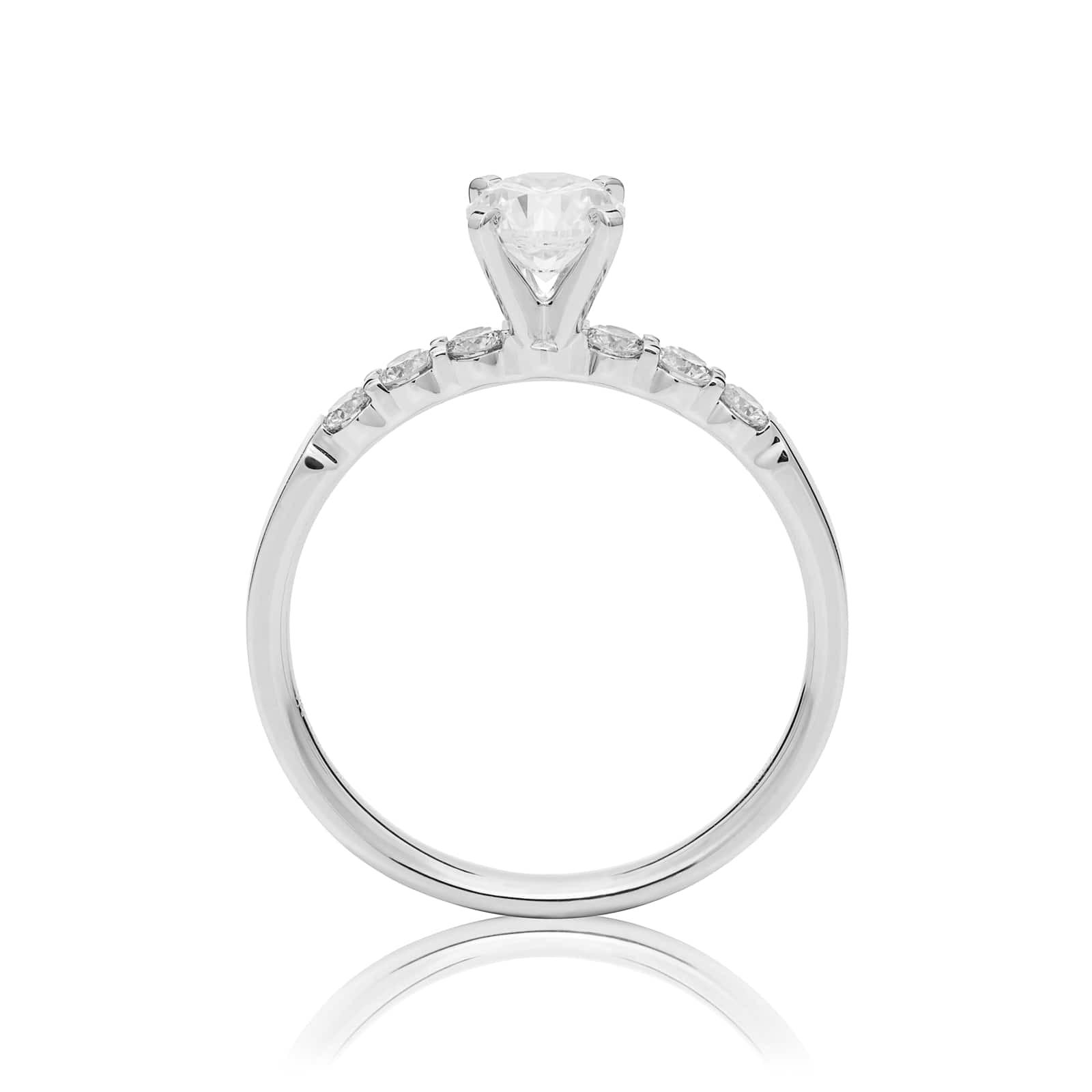 Mayors Platinum 1.00ct Round Engagement Ring (H/SI1)