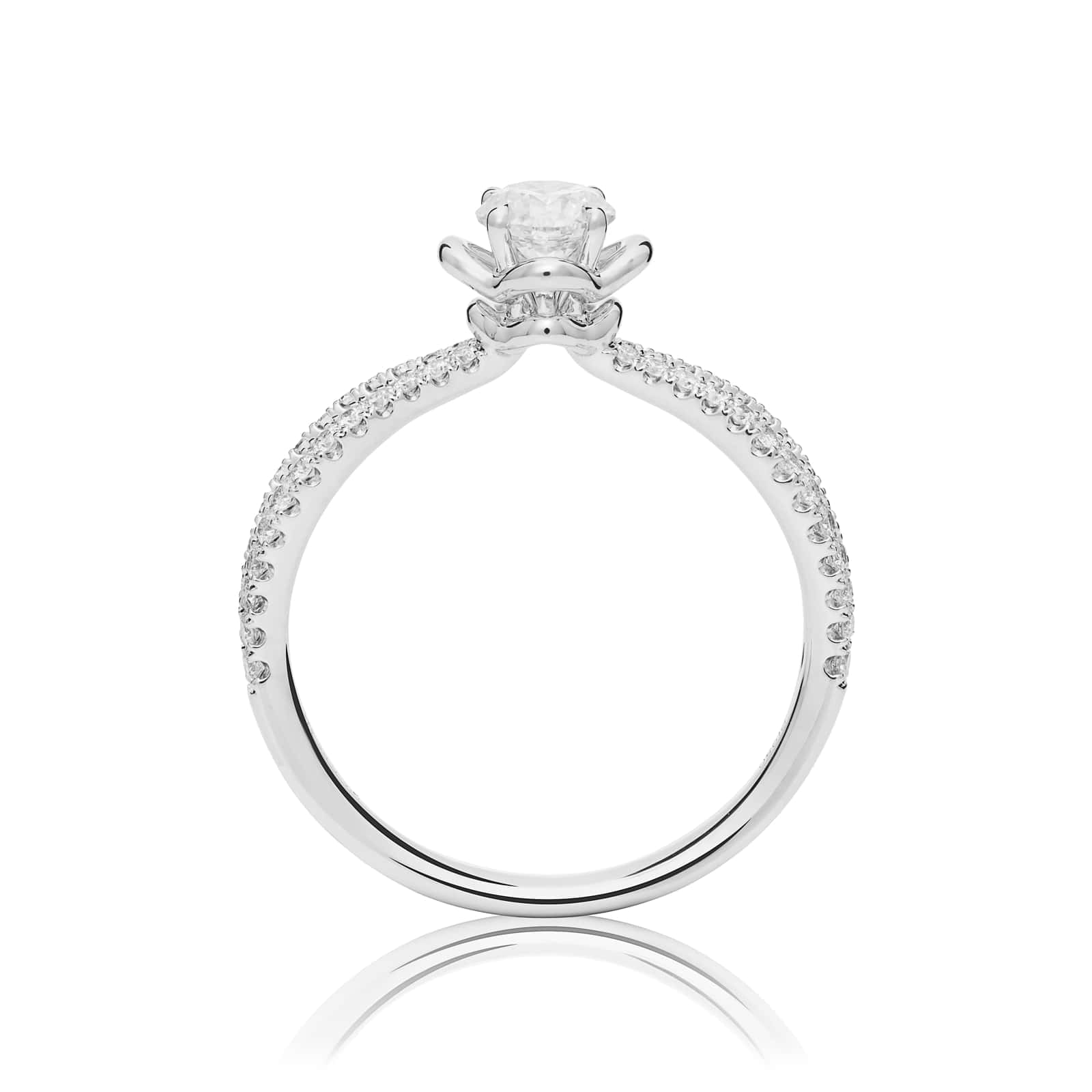Mayors Platinum 0.85ct Round Diamond Engagement Ring (H/SI1)