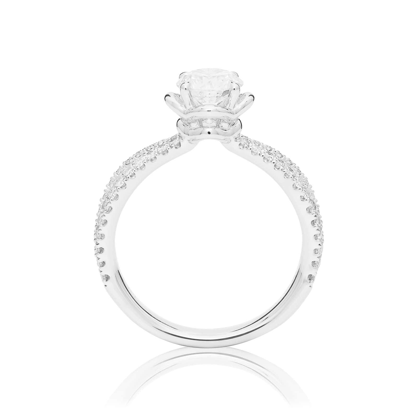 Mayors Platinum 1.07ct Round Diamond Engagement Ring (H/SI1)
