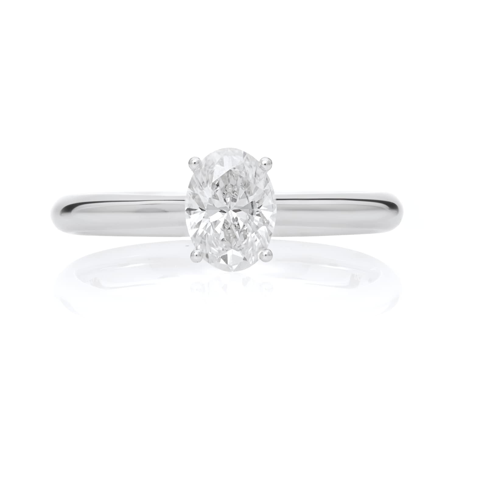 Mayors Platinum 0.70ct Oval Engagement Ring (H/SI1)