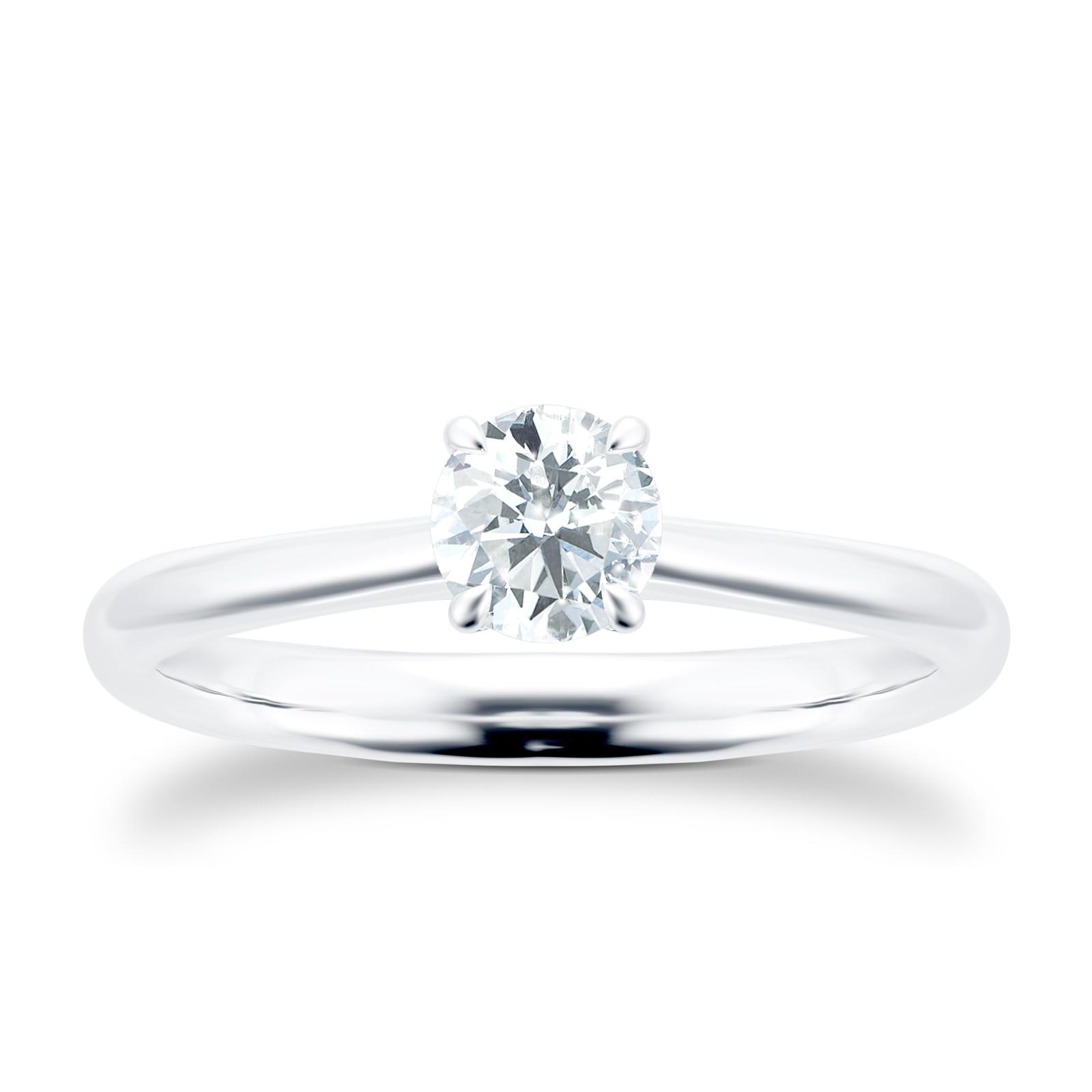 Mayors Platinum 0.70ct Round Engagement Ring (H/VS2)