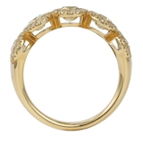 Mappin & Webb 18ct Yellow Gold 1.84ct Oval Bezel Eternity Ring - Size L.5