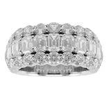 Mappin & Webb Platinum 5.70ct 3 Row Diamond Eternity Ring - Size L