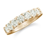 Mappin & Webb 18ct Yellow Gold 0.77ct Claw Set Half Eternity Ring