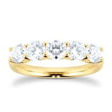 Mappin & Webb 18ct Yellow Gold 1.50ct Five Stone Eternity Ring
