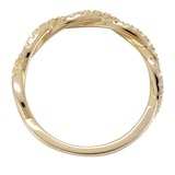 Mappin & Webb 18ct Yellow Gold 0.30ct Round Brilliant Cut Twist Half Eternity Ring