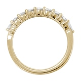 Mappin & Webb 18ct Yellow Gold 0.66ct Claw Set Marquise Half Eternity Ring