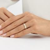 Goldsmiths 18ct Yellow Gold 0.80cttw Diamond Channel Set Ring