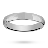 Mappin & Webb 4mm Heavy Court Ladies Wedding Ring In Palladium