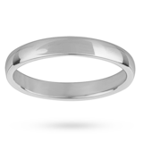 Mappin & Webb 3mm Light Court Ladies Wedding Ring In Palladium