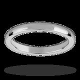 Mappin & Webb 2.5mm Heavy Court Ladies Wedding Ring In Palladium